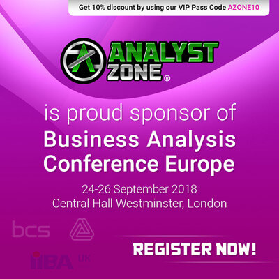 Featured image for AnalystZone sponsors Business Analysis Conference Europe, 2018